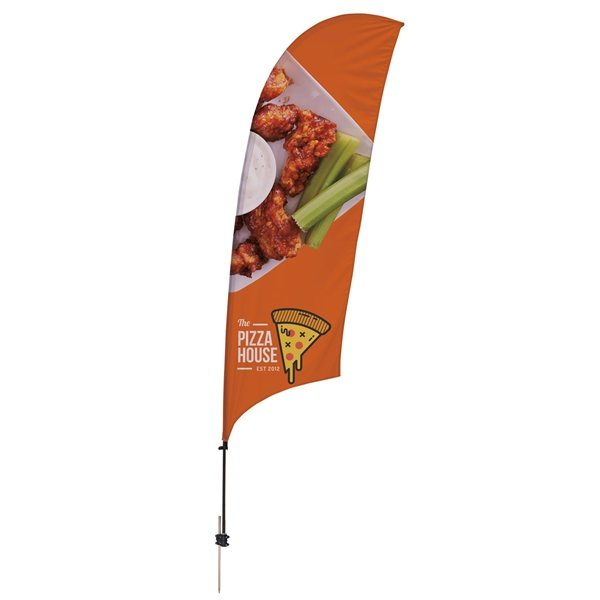 Promotional 10.5 Value Razor Sail Sign Kit (Double - Sided with Ground Spike)