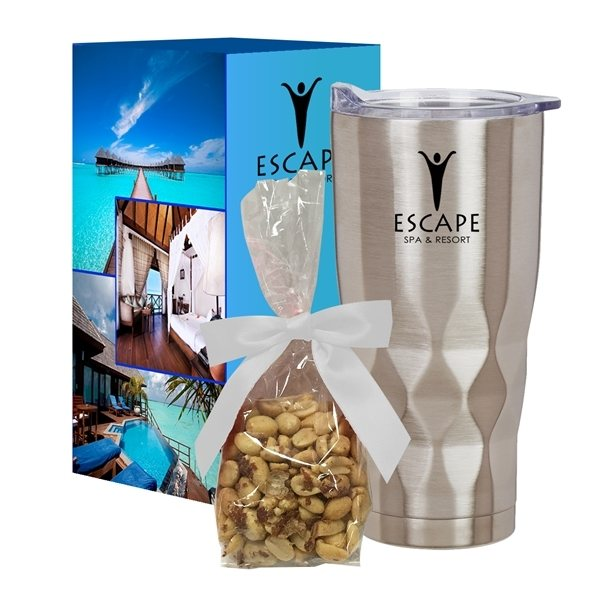 Promotional 22 Oz. Vortex Stainless Steel Tumbler With Stuffer And Custom Box