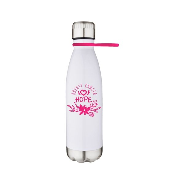 Promotional 17 oz Stainless Steel Bottle with Silicone Strap