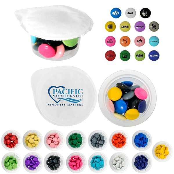 Promotional Small 4 Color Cup Of Candy