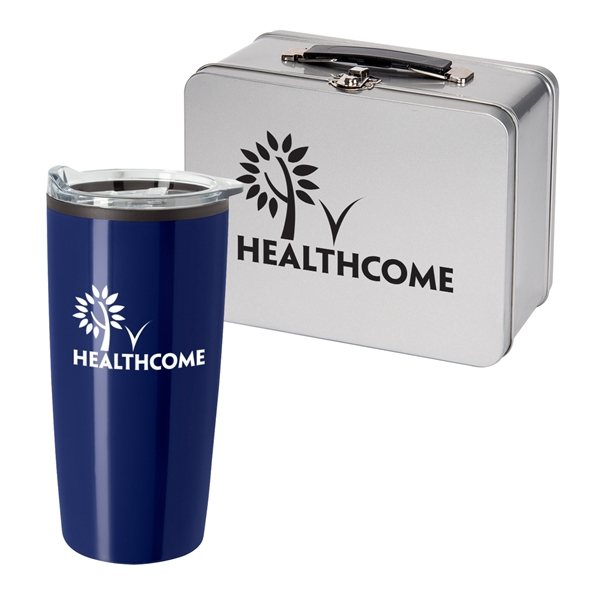 Promotional Throwback Lunch Box With Tumbler