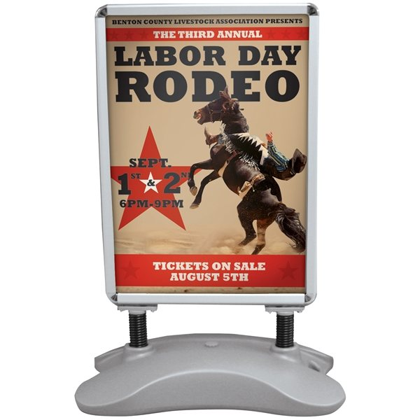 Promotional Outdoor Flex Sign with Ballast Base Kit