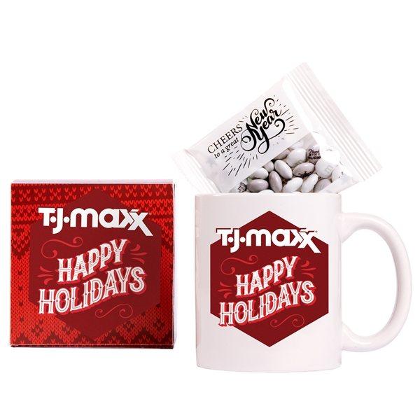Promotional Cup Of Comfort Gift Set With Custom Holiday MMs