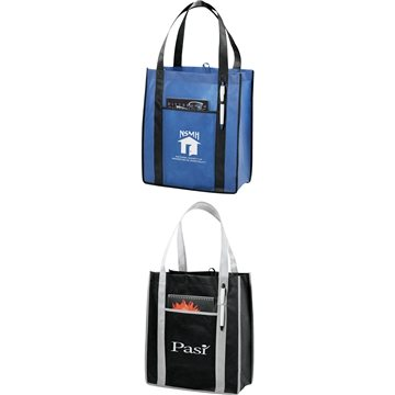 Contrast Non-Woven Carry-All Tote