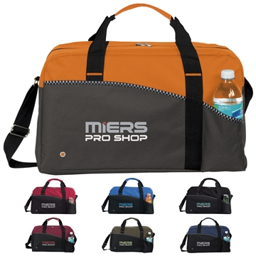 Polyester Center Court Sports Duffel Bag 18''