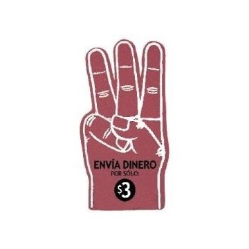 18'' Foam 3-Finger Hand Cheering Mitt