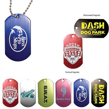 Dog Tag with 4 1/2'' Ball Chain
