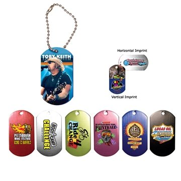 Dog Tag , 4-1/2'' Ball Chain with Full Color Digital Imprinting
