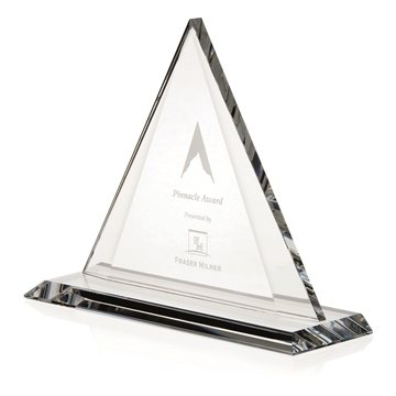 Triangle Optical Crystal Award - 9x7.25x3 in