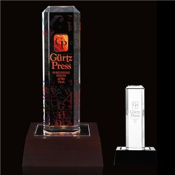 Vertical Highlight Award with Lighted Base