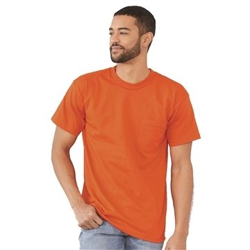 Bayside Short Sleeve T-shirt with a Pocket (Union Made)