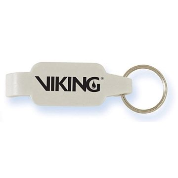 White Bottle Opener Key Ring