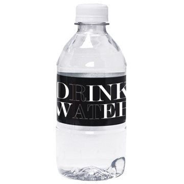 12 oz - Bottled 100% spring water with flat cap
