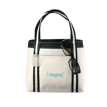 Natural/Black Polyester Piccolo Mini Tote