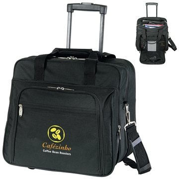 Wheeled Polyester Briefcase