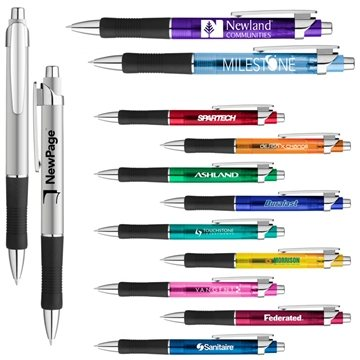 Albany Rubber Grip Gel Ink Click Pen