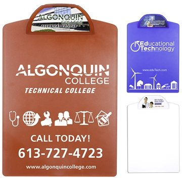 Letter Size Clipboard with 4 Color Process Imprint on Clip