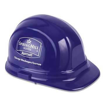 Decal Imprinted Hard Hat- Hard Hat- 2 Sides (B)