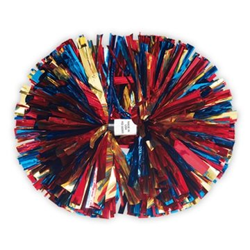 3-Color Mix Metallic Show Pom- 5''