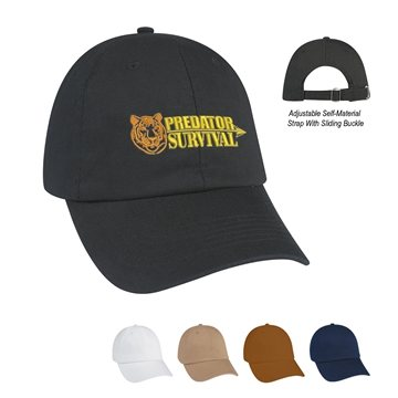 100% Washed Cotton Twill Cap