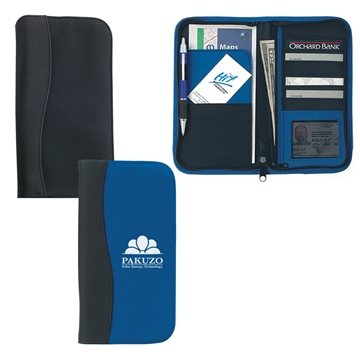 Microfiber Travel Wallet With Embossed PVC Trim