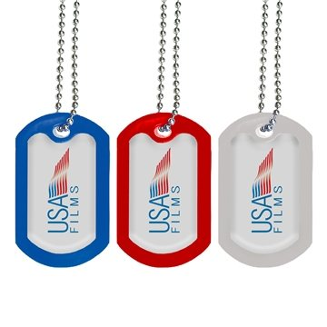 Metal with Silicone Border Dog Tag