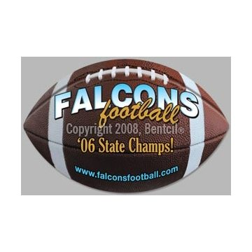 Football - Exterior-Auto Die Cut Magnets