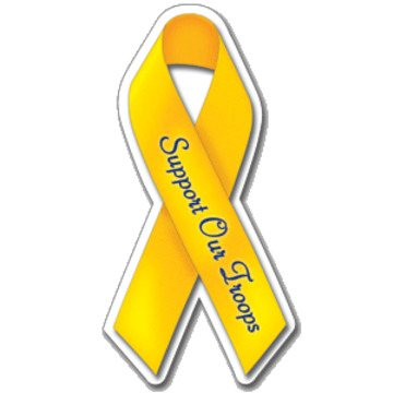 Support Our Troops Ribbon - Exterior/Auto Die Cut Magnets