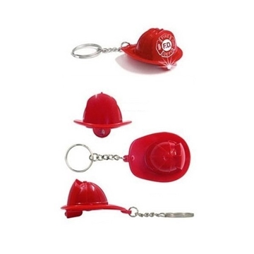 Fireman's Hat shape, flashlight key ring