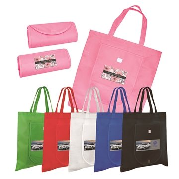Non-Woven Fold 'n Go Tote Bag, Full Color Digital