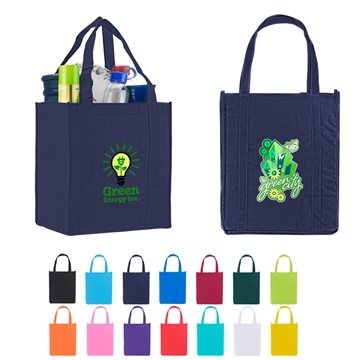 Custom Atlas Non Woven Grocery Tote Bag - 12'' X 13''