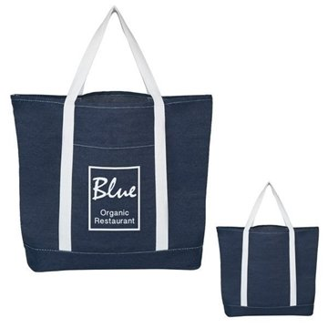 Denim Shopping Tote Bag