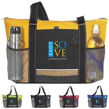 Icy Bright Nylon Cooler Tote Bag - 24 Can