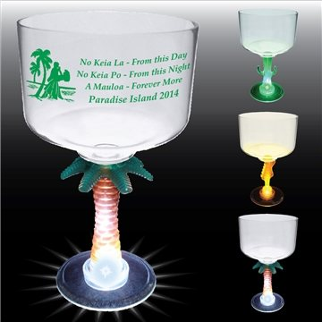 18 oz Lighted Novelty Stem Margarita - Plastic