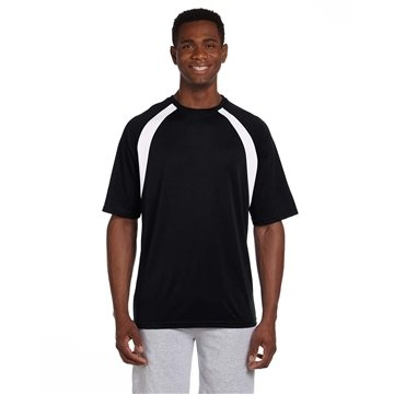 Harriton 4.2 oz Athletic Sport Colorblock T-Shirt