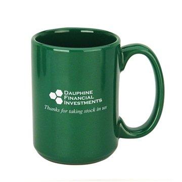 Daily Grind Ceramic Mug 15 oz. Green