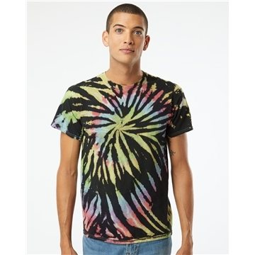 Dyenomite Multi-Color Spiral Short Sleeve T-shirt