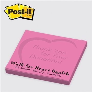 Neon/Ultra Post-it® Custom Printed Notes 3'' x 3'', 25 sheets