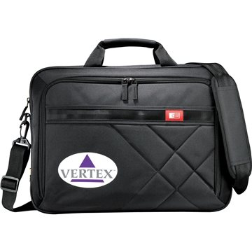 Case Logic® Cross-Hatch 17'' Computer Briefcase