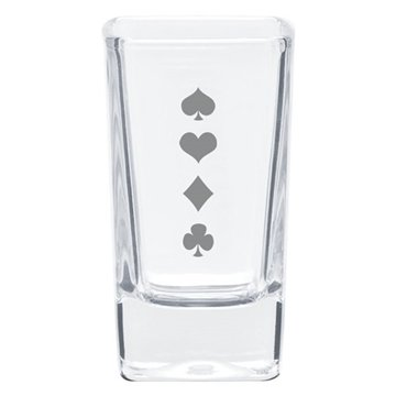 2.8 oz Square Shooter/Desert Glass - Clear