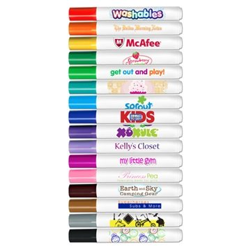 Broadline Washable Markers - Conical Tip - Full Color Decal Print - USA Made