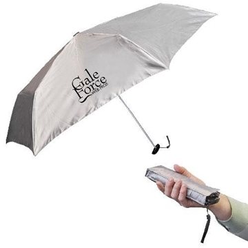 39'' Fold-Flat Pocket Umbrella With Matching Case