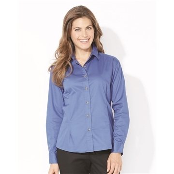 FeatherLite Ladies' Long Sleeve Stain Resistant Tapered Twill Shirt