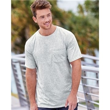 Fruit of the Loom Heavy Cotton HD T-Shirt with a Left Chest Pocket