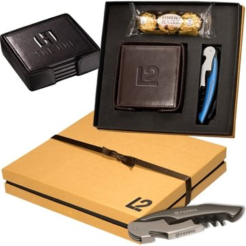 Ferrero Rocher® Chocolates, Coasters & Corkscrew Gift Set
