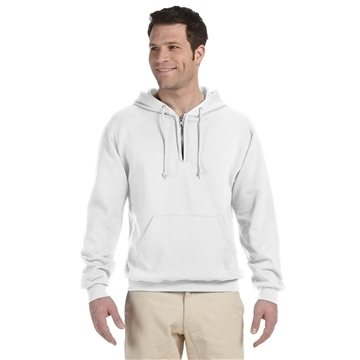JERZEES® 8 oz NuBlend® Fleece Quarter-Zip Pullover Hood