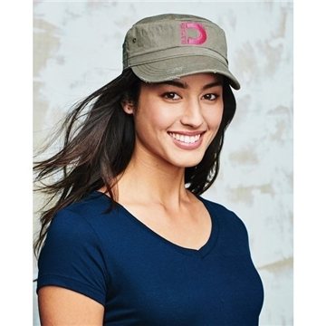 District Distressed Military Cap