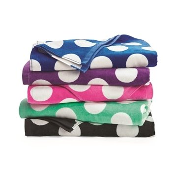 Carmel Towel Company Polka Dot Velour Beach Towel
