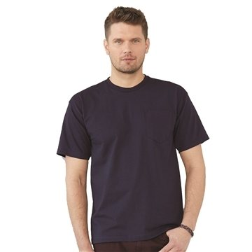 Bayside USA-Made Short Sleeve T-Shirt With a Pocket