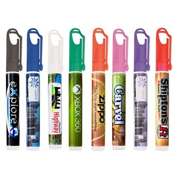 10ml Pocket Hand Sanitizer With Carabineer Clip